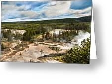 Norris Geyser Basin Greeting Card