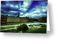 Norrkoping Waterfall Greeting Card
