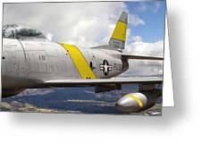 North American F-86 Sabre Greeting Card
