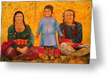 North American Native Family  Greeting Card