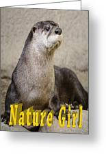 North American Otter Nature Girl Greeting Card