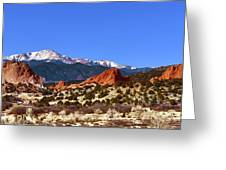 North And South Gateway Rock Greeting Card