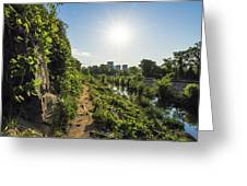 North Bank Trail Cliff Greeting Card