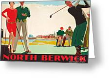 North Berwick, A London And North Eastern Railway Vintage Advertising Poster Greeting Card
