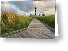 North Carolina Bodie Island Lighthouse Summer Greeting Card