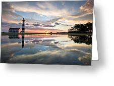 North Carolina Bodie Island Lighthouse Sunrise Greeting Card