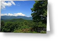 North Carolina Mountains In The Summer Greeting Card