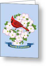 North Carolina State Bird And Flower Greeting Card by Crista Forest
