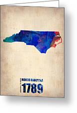 North Carolina Watercolor Map Greeting Card