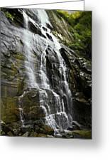 North Carolina Waterfall Hickory Nut Falls Photography  Greeting Card