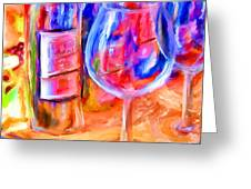 North Carolina Wine Greeting Card by Marilyn Sholin