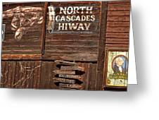 North Cascade Hiway Signs Greeting Card