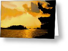 North Channel Sunset Greeting Card