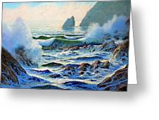 North Coast Surf Greeting Card