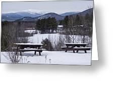 North Conway Winter Mountains Greeting Card