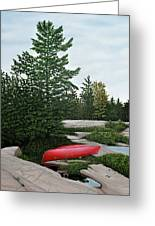 North Country Canoe Greeting Card