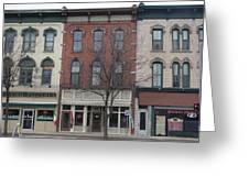 North Country Main Street Of Gouverneur, New York Greeting Card