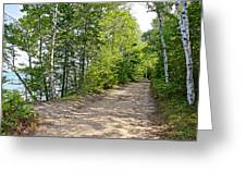 North Country Trail In Pictured Rocks National Lakeshore-michigan  Greeting Card