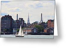 North End  Of Boston  Greeting Card