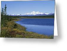 North Face Of Mount Mckinley, Lake Greeting Card