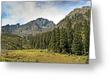 North Face Of Mount Sneffels Above Blaine Basin In The San Juan Mountains Of Colorado Greeting Card