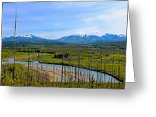 North Fork Flathead River Greeting Card