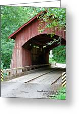 North Fork Yachats Bridge 2 Greeting Card