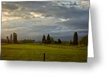 North Idaho Sunrise Greeting Card
