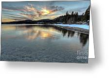 North Lake Tahoe Spring Sunset Greeting Card