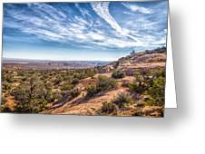 North Of Moab Greeting Card