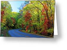 North Of The Folk Art Center In Fall Greeting Card