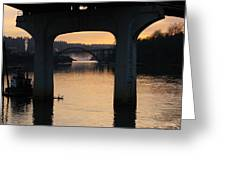 North Of Willamette Falls Greeting Card