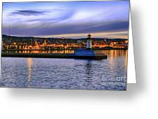 North Pier Evening Greeting Card