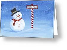 North Pole Greeting Card