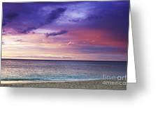 North Shore Beach Sunset Greeting Card