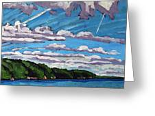 North Shore Stratocumulus Streets Greeting Card
