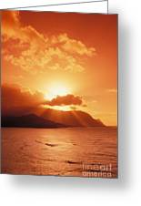 North Shore, Sunset Greeting Card