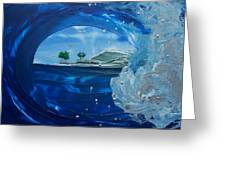 North Shore Window Barrel  Right Greeting Card