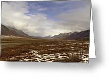 North Slope Dalton Highway Arctic Alaska Greeting Card