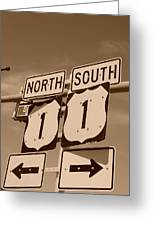 North South 1 Greeting Card