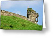 North Tower- Tutbury Castle Greeting Card