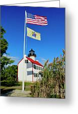 North Wind At East Point Light Greeting Card