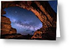 North Window Milky Way Greeting Card