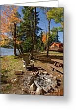 North Woods Lake Three Greeting Card