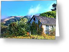 Northern California Cottage Greeting Card