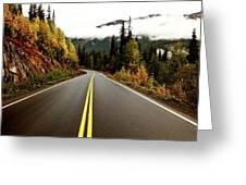 Northern Highway Yukon Greeting Card