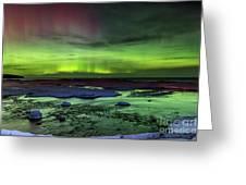 Northern Lights Pendells Creek -7824 Greeting Card