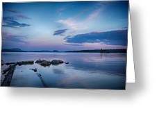 Northern Maine Sunset Over Lake Greeting Card
