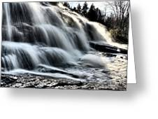 Northern Michigan Up Waterfalls Bond Falls Greeting Card