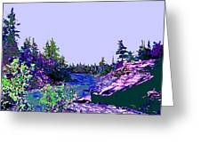 Northern Ontario River Greeting Card